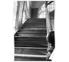 Abandoned Stairwell Poster