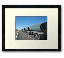 Road Trained Framed Print