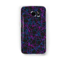 Abstract Geometric 3D Triangle Pattern in Blue / Pink Samsung Galaxy Case/Skin
