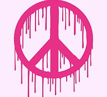 Pink Trendy modern Graffiti style Peace by badbugs