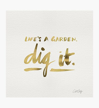 Dig It – Gold Ink Photographic Print