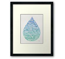 Ombré Droplet Framed Print