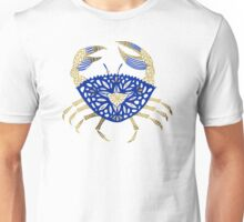 Crab – Navy & Gold Unisex T-Shirt