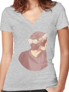 Pastel Danisnotonfire Women's Fitted V-Neck T-Shirt
