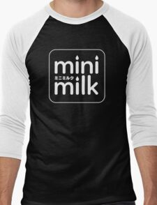 mini milk (White Ver.) Men's Baseball ¾ T-Shirt