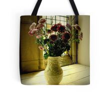 Flowered Window Light Raphoe, Donegal, Ireland Tote Bag