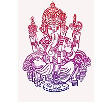 Ombre Indian Ganesh Elephant T-shirt Photographic Print
