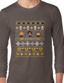 Magical Ugly Christmas Sweater + Card Long Sleeve T-Shirt