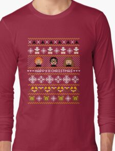 Magical Ugly Christmas Sweater + Card Long Sleeve T-Shirt