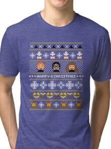Magical Ugly Christmas Sweater + Card Tri-blend T-Shirt