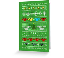 Captain's Christmas Sweater + Card Greeting Card