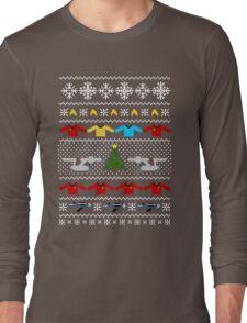 Captain's Christmas Sweater + Card Long Sleeve T-Shirt