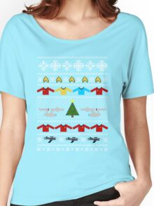 Captain's Christmas Sweater + Card Women's Relaxed Fit T-Shirt