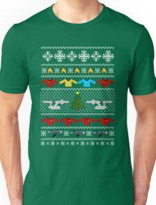Captain's Christmas Sweater + Card Unisex T-Shirt