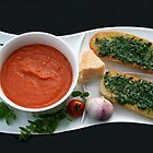 Salmorejo and Baguette with Herbs by Dirk Pagel