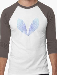 Periwinkle Cicada Wings Men's Baseball ¾ T-Shirt