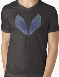 Periwinkle Cicada Wings Mens V-Neck T-Shirt