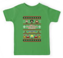 Totally Awesome Ugly Christmas Sweater + Card Kids Tee