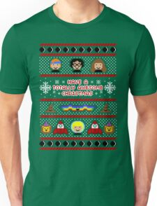 Totally Awesome Ugly Christmas Sweater + Card Unisex T-Shirt