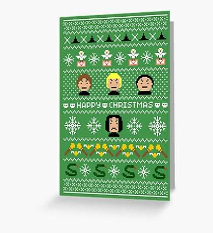 Evil Magical Ugly Christmas Sweater + Card Greeting Card