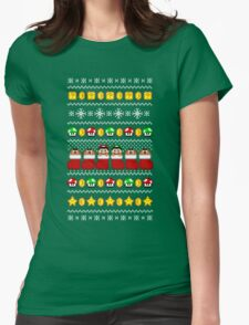 Super Ugly Christmas Sweater + Card Womens Fitted T-Shirt