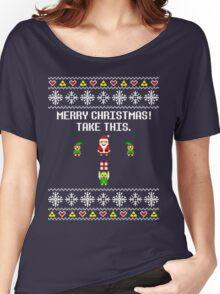 Dangerous Christmas Sweater + Card Women's Relaxed Fit T-Shirt