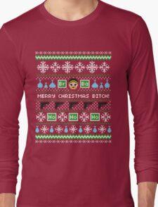 Merry Christmas Bitch Sweater + Card Long Sleeve T-Shirt