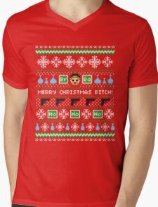 Merry Christmas Bitch Sweater + Card Mens V-Neck T-Shirt
