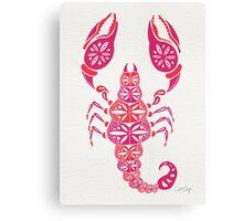 Pink Scorpion Canvas Print