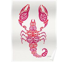 Pink Scorpion Poster