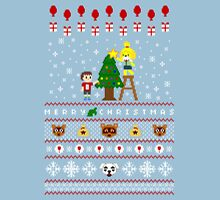 Animal Town Christmas Sweater + Card Unisex T-Shirt