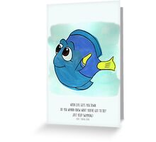 Keep Swimming Greeting Card
