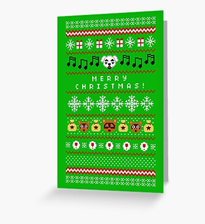 Animal Town Christmas Sweater + Card 2 Greeting Card