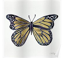 Gold Butterfly Poster