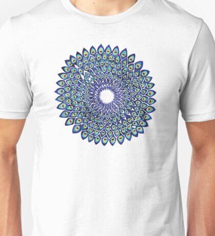 Peacock Mandala – Navy & Gold Unisex T-Shirt