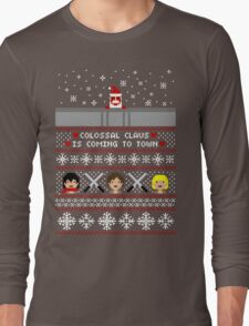 Colossal Claus Sweater + Card  Long Sleeve T-Shirt