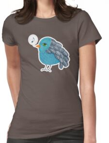 Slightly Depressed Blue Bird Singin' the Blues Womens Fitted T-Shirt