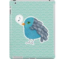 Slightly Depressed Blue Bird Singin' the Blues iPad Case/Skin