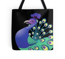 A splendid green and blue Peacock Tote Bag