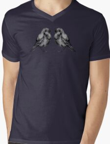 Black Birds Mens V-Neck T-Shirt