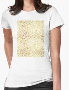 Knee-Deep in Gold Ink Womens Fitted T-Shirt