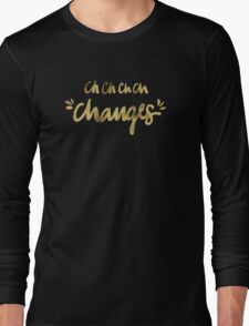 Bowie – Gold Ink Long Sleeve T-Shirt