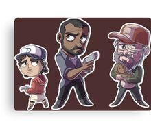 Walking Deads Sticker Sheet Canvas Print