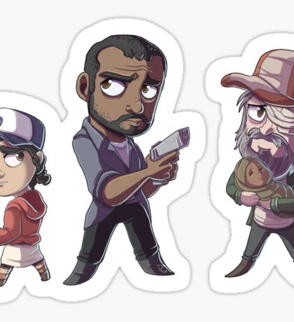 Walking Deads Sticker Sheet Sticker