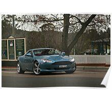 Aston Martin DB9 Sir Don Bradman Museum Poster
