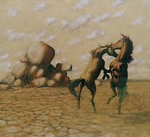 Battling Brumbies by Cary McAulay