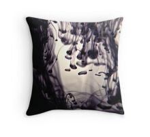 Ink Droplets Throw Pillow