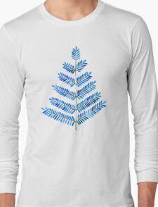 Blue Leaflets Long Sleeve T-Shirt