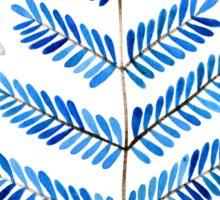 Blue Leaflets Sticker