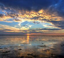 Sunset near Den Oever by Hetty Mellink